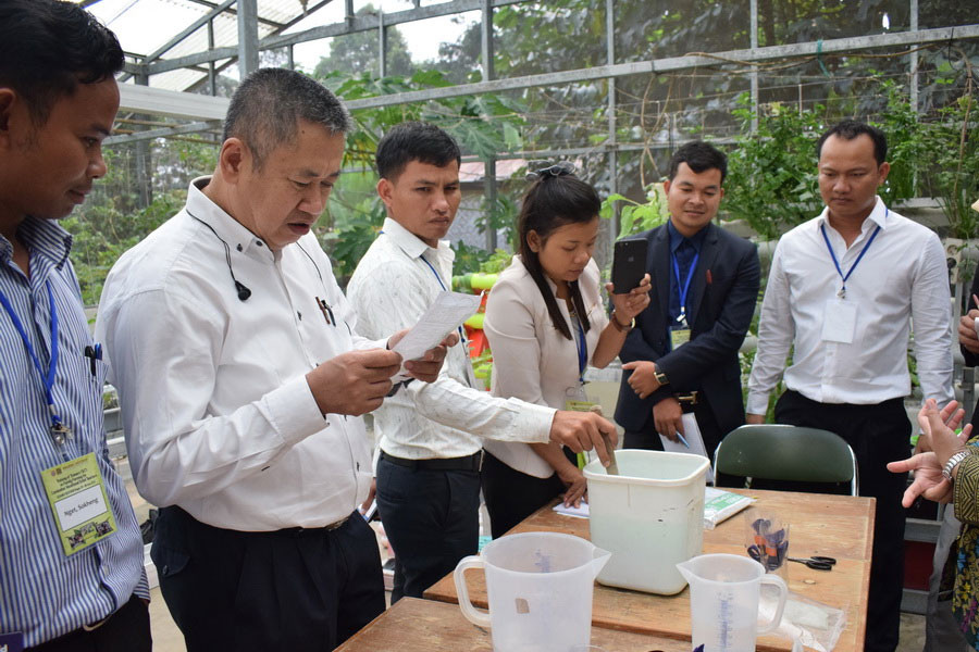 Eight Cambodian Vocational School Teachers Join Family Farming Training Course in BIOTROP