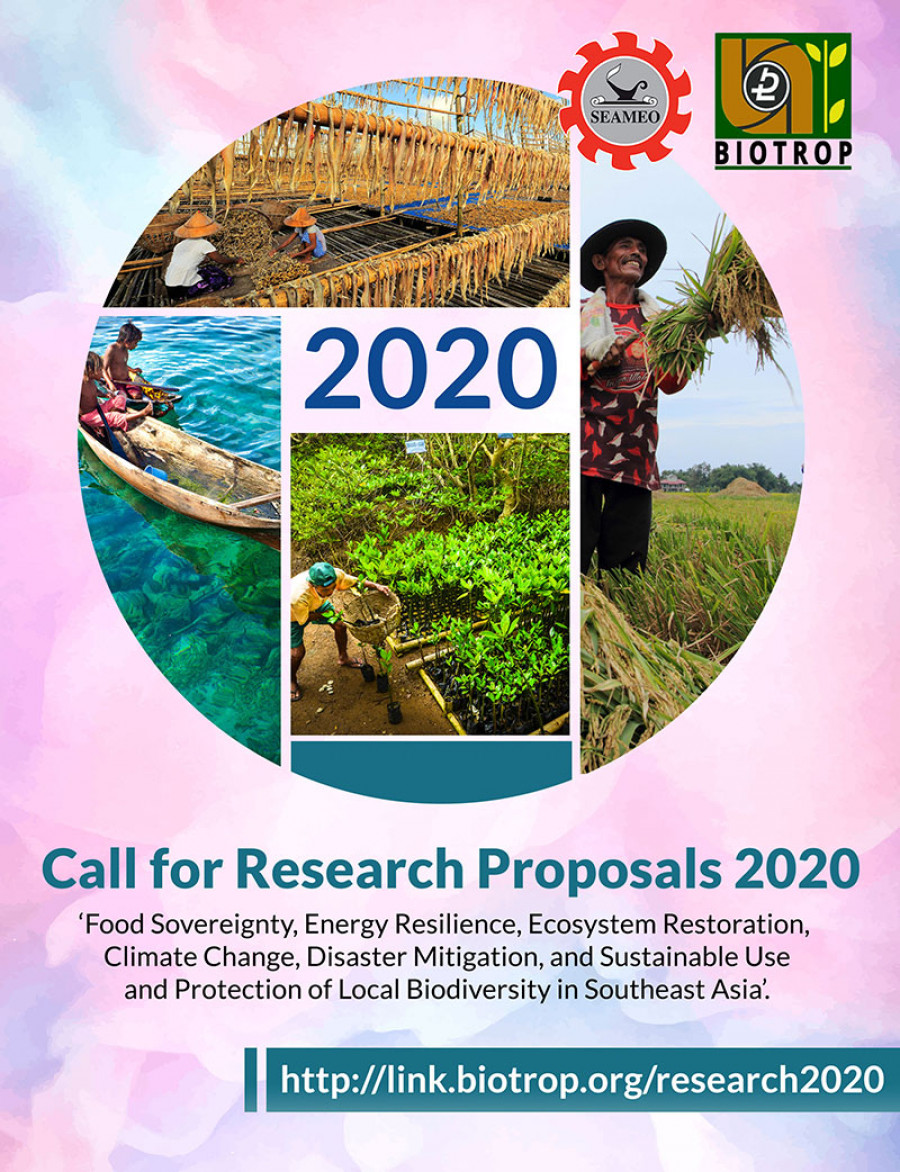 SEAMEO BIOTROP Call for Research Proposals 2020